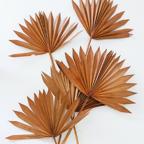 Rustic Orange Sun Palms By Afloral